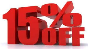 15% off consultations through August.