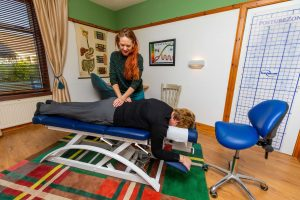 Routine chiropractic adjustment at Fife Chiropractic Clinic, Glenrothes, Fife